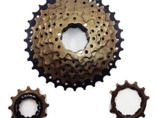 Piñon 8 Coronas A Cassette Dorado C-star Bicicletas