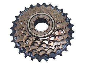 Piñon Shimano 6 C. A Rosca Dorado Bicicletas Ciclismo