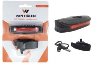 Luces Van Halen Trasera Usb C/soporte Van801