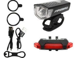 Luces Usb Kit Bicicleta Delantera Trasera Firebird 120 Lum